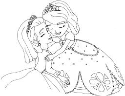 sofia coloring pages sofia amber hugged free