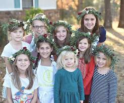 pottery barn kids flower table spring flower crowns with mom at pottery barn kids child s crown