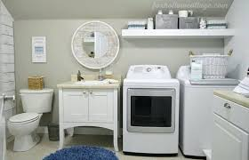 bathroom with laundry room ideas bathroom laundry room bathroom before and after makeover decorating