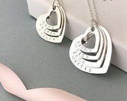 personalised necklaces personalised necklace etsy uk