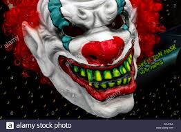 halloween mask clown clown face scary stock photos u0026 clown face scary stock images alamy
