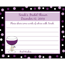 bridal shower words of wisdom cards photo wedding shower advice cards image