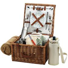 Picnic Gift Basket At Ascot Cheshire English Style Willow Picnic Basket With Service
