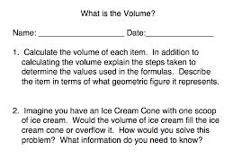 Volume Of Rectangular Prism Worksheet What Is The Volume Perkins Elearning