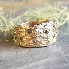 wide wedding bands 14kt gold wide textured wedding band handmade wide ring 14kt