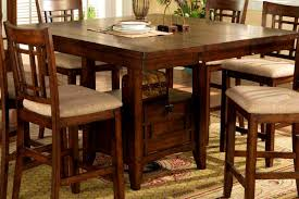 square pub table with storage high dining bar table dining room ideas