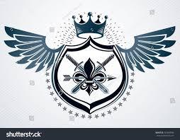Monarch Design by Vector Retro Insignia Design Decorated Using Stock Vector