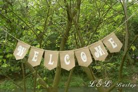 Shabby Chic Home Decor Wholesale by 2017 Wholesale Welcome Burlap Banner Rustic Welcome Sign Country