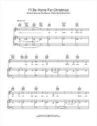 i ll be home for sheet by bob piano vocal