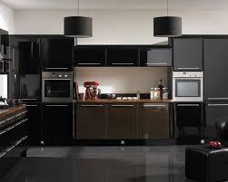 modern kitchen design black cabinets electric cooktop under