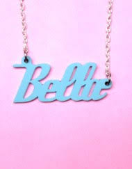 Acrylic Name Necklace Name Necklaces Collection Glitter Punk Jewellery