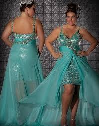 fabulouss aqua high low plus size prom dress by macduggal 76301f