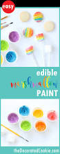 edible marshmallow paint kid friendly cookie decorating