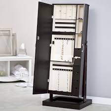 free standing jewellery armoire uk mirrored lovely jewelry armoire oblacoder