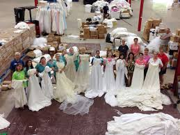 wedding dress donations beautiful wedding dresses turned into baby gowns