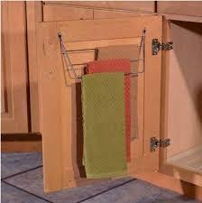 kitchen cabinet towel rack under sink towel bar rack kitchen cabinet customization