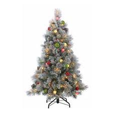 flocked tree flocked christmas tree ebay