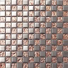 Tile Wallpaper Pink Home 3d Floor Tile Mosaic Dgmm012 Metal Kitchen Mirror Wall Tiles