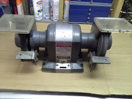 vtg sears craftsman commercial bench grinder block motor 1 2 hp