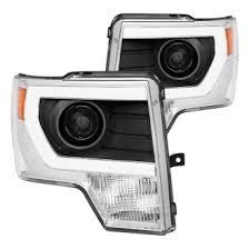 2012 ford f150 projector headlights 2012 ford f 150 custom factory headlights carid com