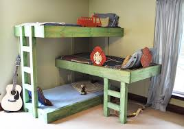 Build Cheap Bunk Beds by Saving Space And Staying Stylish With Triple Bunk Beds