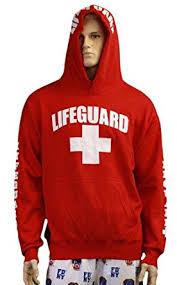 amazon com lifeguard hoodie life guard sweatshirt red clothing