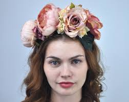 floral headpiece flower headpiece etsy