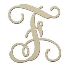 monogramed letters 12 unfinished solid wood single vine monogram letter f made in