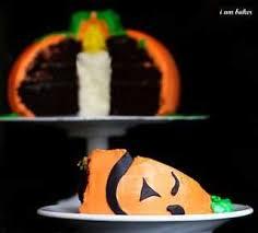 halloween pumpkin cake surprise inside cake i am baker