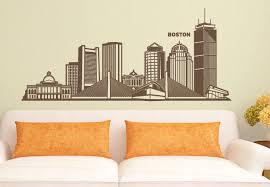 Boston Skyline Wall Decal East Coast Vinyl Decor