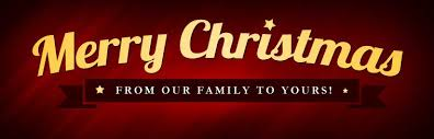 merry from our family to yours card lights