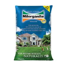 shop milorganite organic nitrogen 2500 sq ft 5 2 0 at lowes com