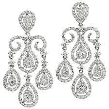 diamond gold chandelier earrings harbor diamonds rubylux