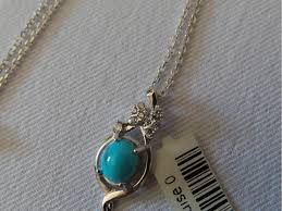 turquoise stone necklace stone and silver pendant with silver necklace ha2089 persis crafts