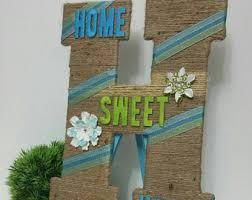 Letters For Home Decor Front Door Letter Etsy