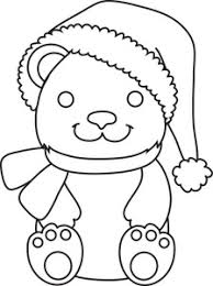 free coloring pages clipart image christmas teddy bear coloring