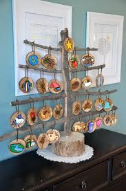 it s a wonderful wood disk painted tree ornaments