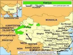 china on a map keriya in china joshua project