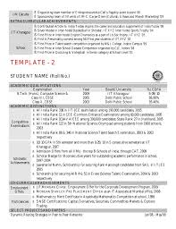 Cse Resume Format Cv Template By Kgp