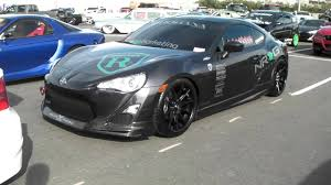 subaru brz matte black scion frs on 19