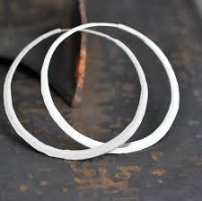 large silver hoop earrings 2 1 2 inch sterling silver hoop earrings large hammered