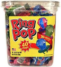 where to buy ring pops topps assorted ring pops 40 count jar theonlinecandyshop