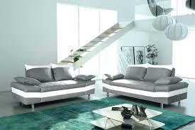 canapé gris et blanc pas cher canape blanc gris decoration salon noir blanc deco salon noir
