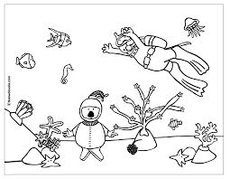 pages under the sea coloring pages pictures books sheets