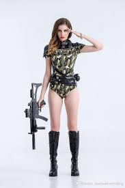 halloween themed clothing camouflage color policewoman colthes soldier costumes women