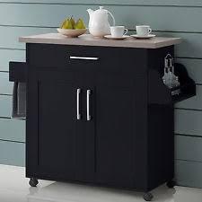 Rolling Storage Cabinet Kitchen Island Bar Ebay