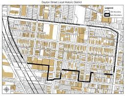 Dayton Ohio Map by Area Map Dayton Street Cincinnati Historic District