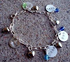 name charm mothers birthstone personalized handsted charm bracelets