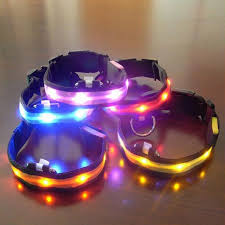LED Name Nylon Pet Dog Collar Luminous Night Safety Led Light up