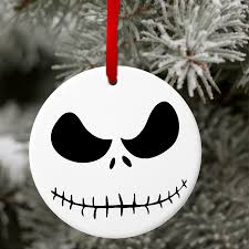 skellington ornament gift tag personalized nightmare